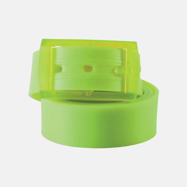 Lime Bälten i silikon med gravyrlogo