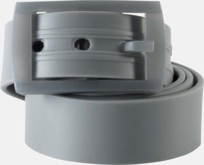 Ljusgrå Bälten i silikon med gravyrlogo