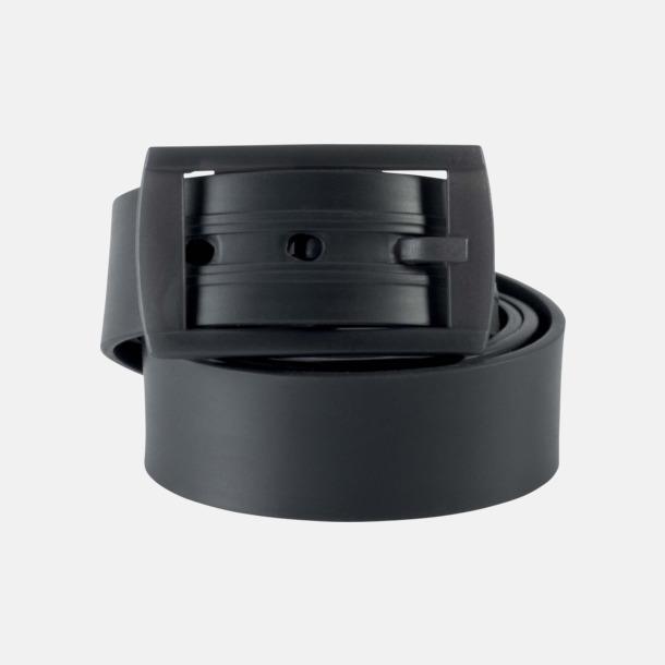 Mörkgrå Bälten i silikon med gravyrlogo