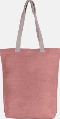 Dusty Pink Tygkassar i juco med reklamtryck