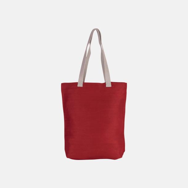Crimson Red Tygkassar i juco med reklamtryck