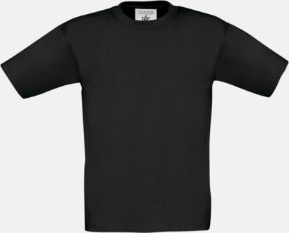 Svart (barn) Fina kvalitets bas t-shirts med reklamtryck