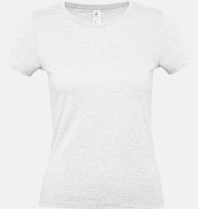 Ash heather (dam) Fina kvalitets bas t-shirts med reklamtryck