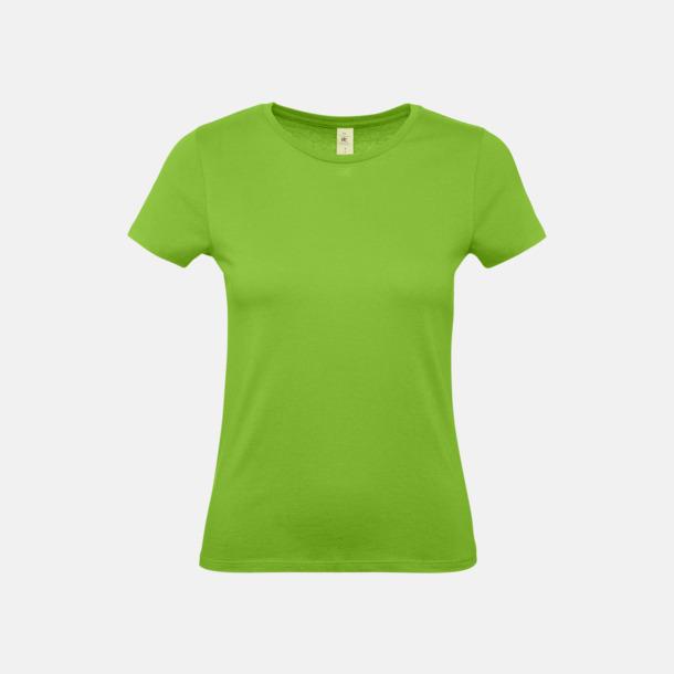 Orchid Green (dam) Fina kvalitets bas t-shirts med reklamtryck