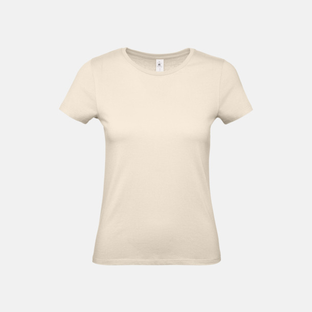 Natur (dam) Fina kvalitets bas t-shirts med reklamtryck
