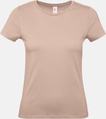 Millennial Pink (dam) Fina kvalitets bas t-shirts med reklamtryck