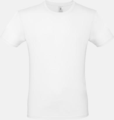 Vit (herr) Fina kvalitets bas t-shirts med reklamtryck
