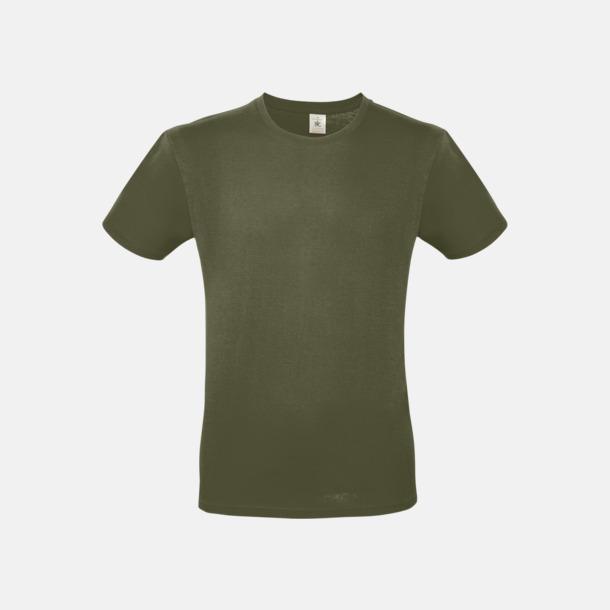 Urban Khaki (herr) Fina kvalitets bas t-shirts med reklamtryck