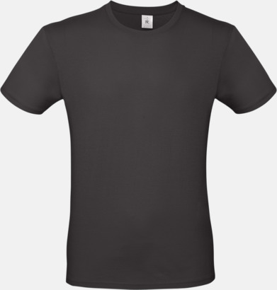 Urban Black (herr) Fina kvalitets bas t-shirts med reklamtryck