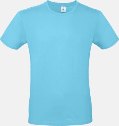 Turkos (herr) Fina kvalitets bas t-shirts med reklamtryck