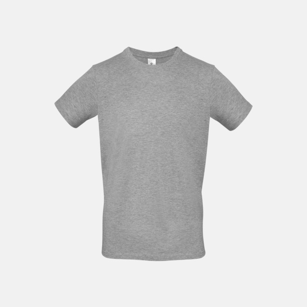 Sport Grey heather (herr) Fina kvalitets bas t-shirts med reklamtryck