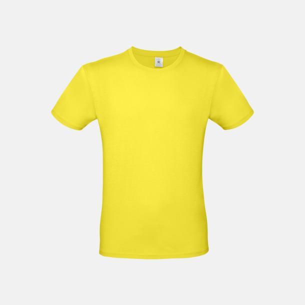 Solar Yellow (herr) Fina kvalitets bas t-shirts med reklamtryck