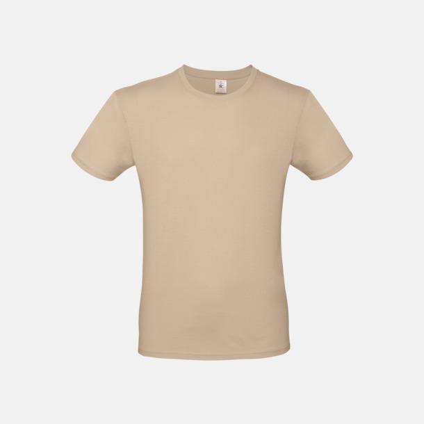 Sand (herr) Fina kvalitets bas t-shirts med reklamtryck