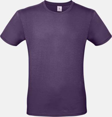 Radiant Purple (herr) Fina kvalitets bas t-shirts med reklamtryck