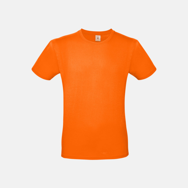 Orange (herr) Fina kvalitets bas t-shirts med reklamtryck