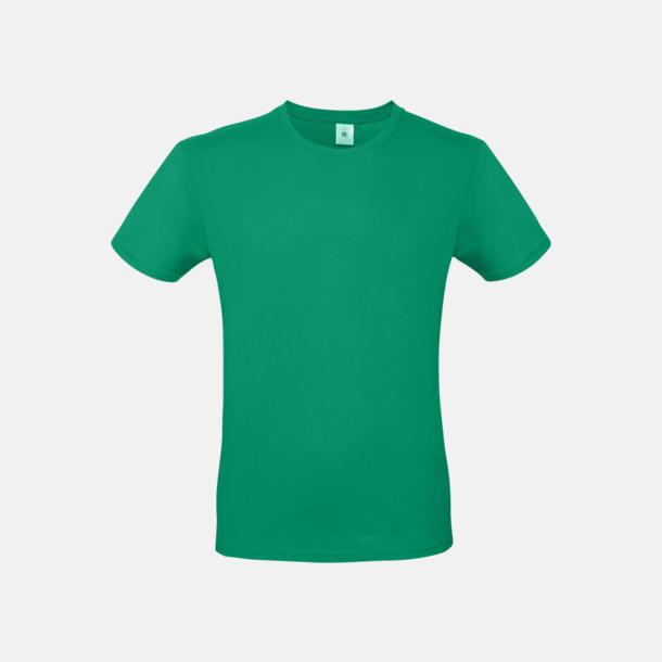 Kelly Green (herr) Fina kvalitets bas t-shirts med reklamtryck