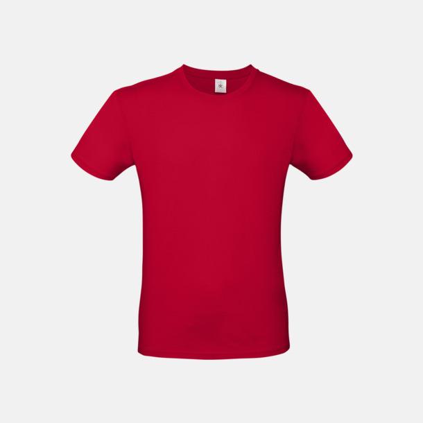 Deep Red (herr) Fina kvalitets bas t-shirts med reklamtryck