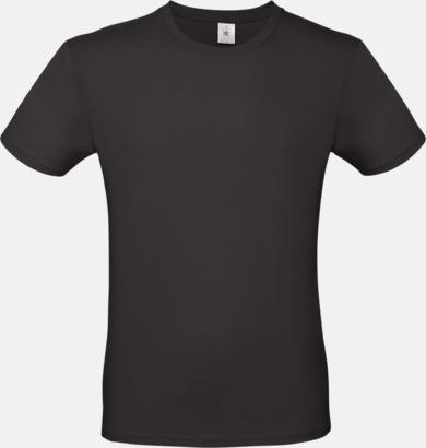 Svart (herr) Fina kvalitets bas t-shirts med reklamtryck