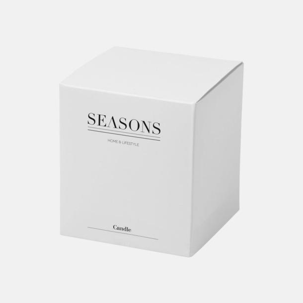Presentförpackning Stämningsfulla ljus med matchande lock - med reklamtryck