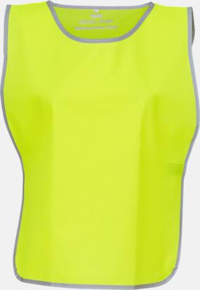 Hi-Vis Yellow Västar med reflexrand med reklamtryck
