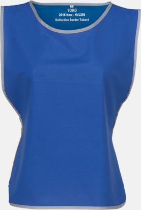 Royal Blue Västar med reflexrand med reklamtryck