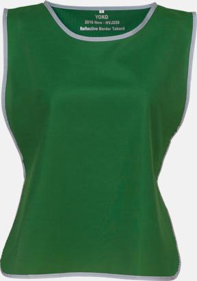 Paramedic Green Västar med reflexrand med reklamtryck