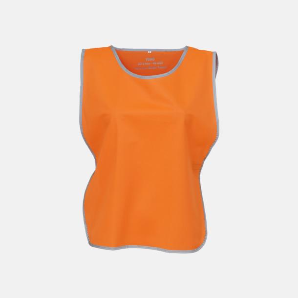 Hi-Vis Orange Västar med reflexrand med reklamtryck