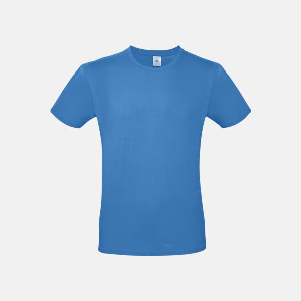 Azure (herr) Fina kvalitets bas t-shirts med reklamtryck