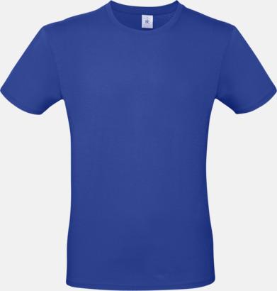 Cobalt Blue (herr) Fina kvalitets bas t-shirts med reklamtryck
