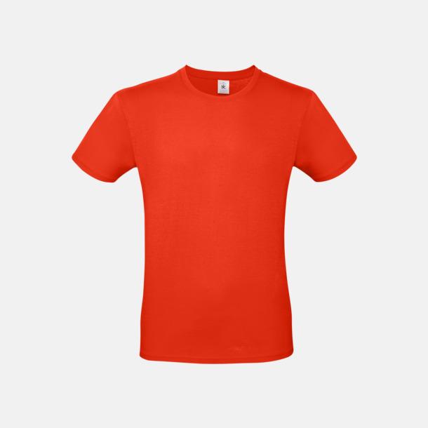 Fire Red (herr) Fina kvalitets bas t-shirts med reklamtryck