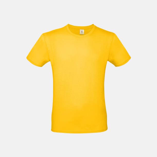 Gold (herr) Fina kvalitets bas t-shirts med reklamtryck