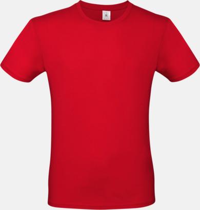 Röd (herr) Fina kvalitets bas t-shirts med reklamtryck