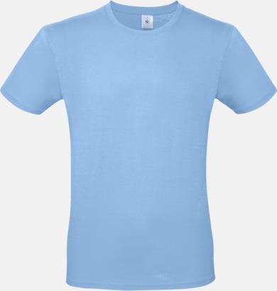 Sky Blue (herr) Fina kvalitets bas t-shirts med reklamtryck