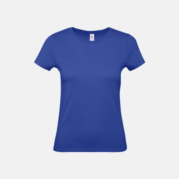 Cobalt Blue (dam) Fina kvalitets bas t-shirts med reklamtryck