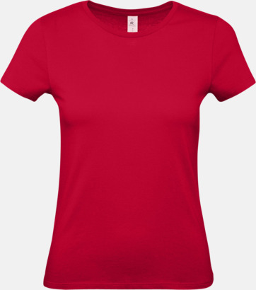 Deep Red (dam) Fina kvalitets bas t-shirts med reklamtryck