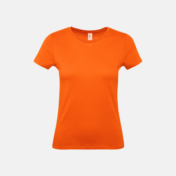 Orange (dam) Fina kvalitets bas t-shirts med reklamtryck