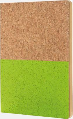 Grön A5 ekoblock i kork med reklamtryck