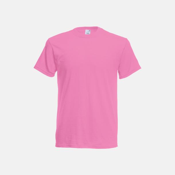 Rose Pink (exklusiv färg, endast herr) Matchande t-shirts för herr, dam & barn - med reklamtryck