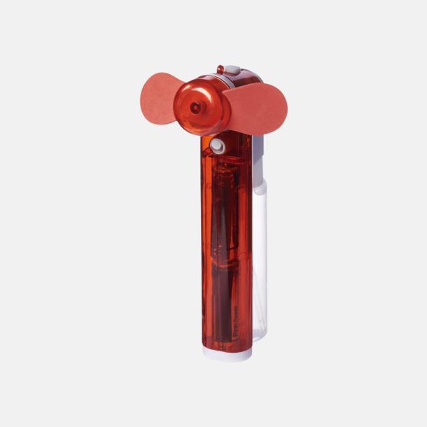 Röd Billig fläkt med vattenspray - med reklamtryck