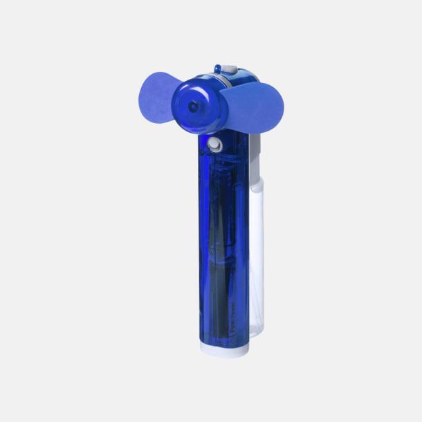 Process Blue Billig fläkt med vattenspray - med reklamtryck