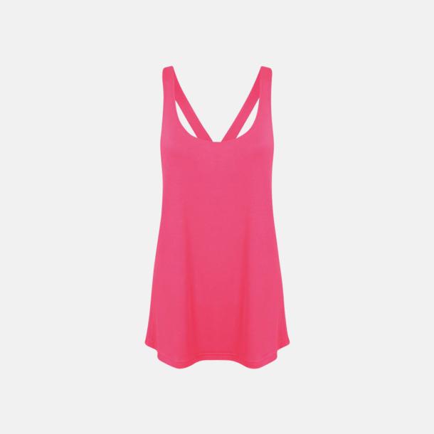 Neon Pink (dam) Sportlinnen för kvinnor & flickor - med reklamtryck