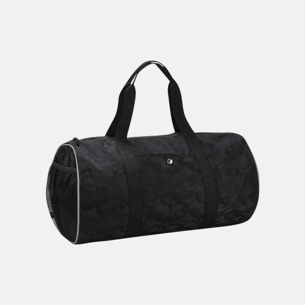 Black Camo Kamouflagemönstrade sportväskor med reklamtryck