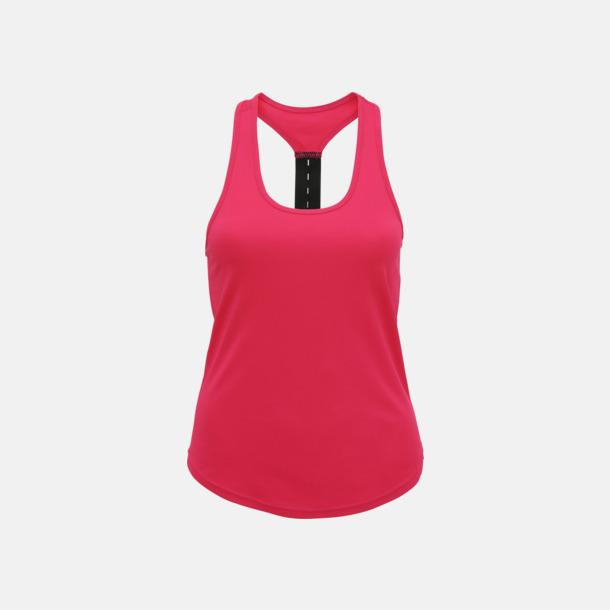 Hot Pink (enkel/racerback) Dam träningslinnen med reklamtryck