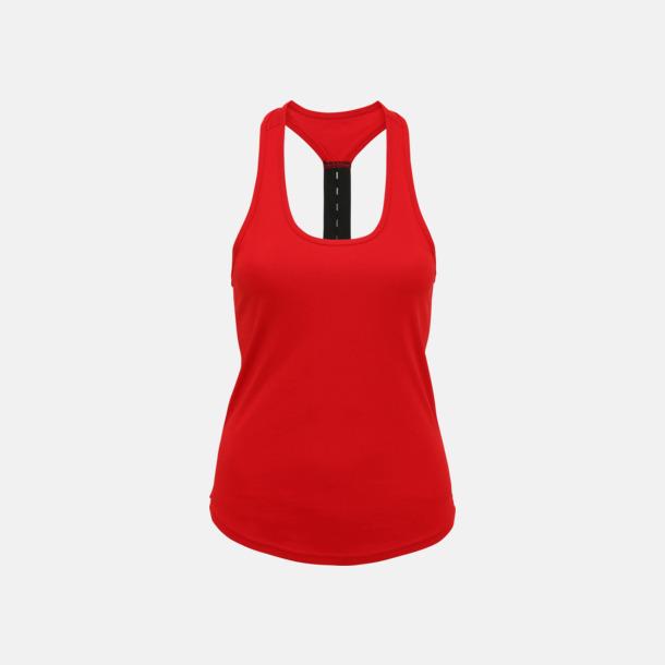 Fire Red (enkel/racerback) Dam träningslinnen med reklamtryck