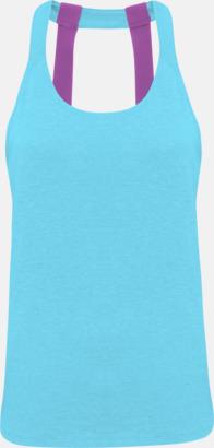 Turquoise Melange (dubbel) Dam träningslinnen med reklamtryck