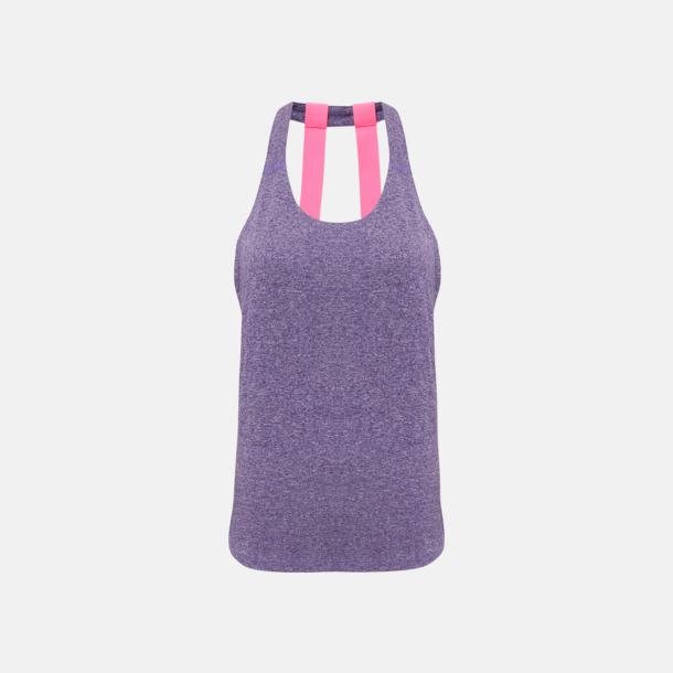 Purple Melange (dubbel) Dam träningslinnen med reklamtryck