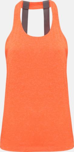 Lightning Orange Melange (dubbel) Dam träningslinnen med reklamtryck