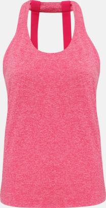 Hot Pink Melange (dubbel) Dam träningslinnen med reklamtryck