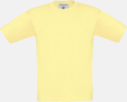 Gul (barn) Fina kvalitets bas t-shirts med reklamtryck