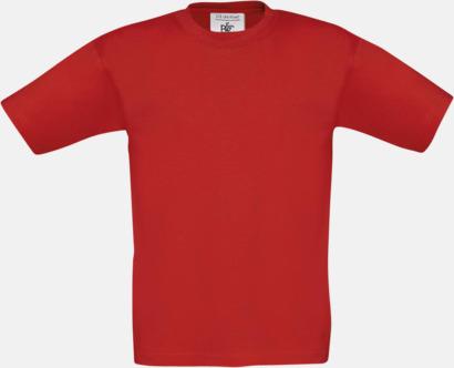 Röd (barn) Fina kvalitets bas t-shirts med reklamtryck